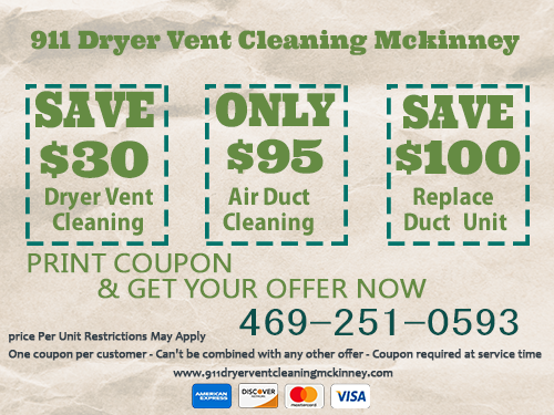 911 Dryer Vent Cleaning Mckinney TX { lint removal experts }